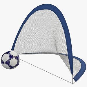 3ds portable soccer goals set