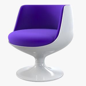 3d cognac chair eero aarnio model