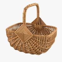 Wicker Shop Basket