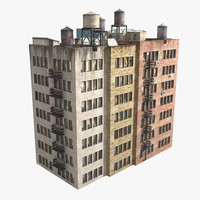 3d residental building complex