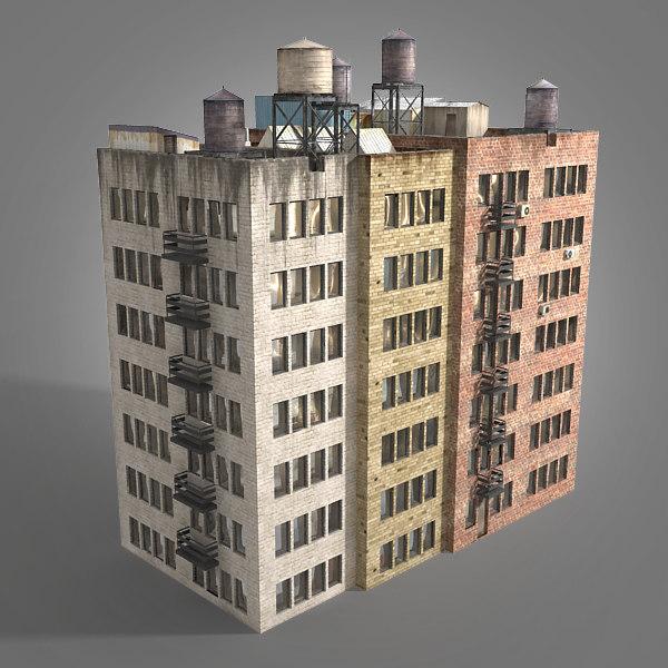3d residental building complex