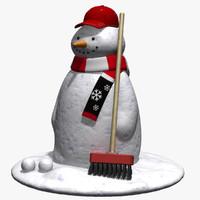 3ds max snowman