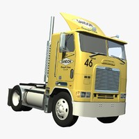 freightliner fla tandem 3d lwo