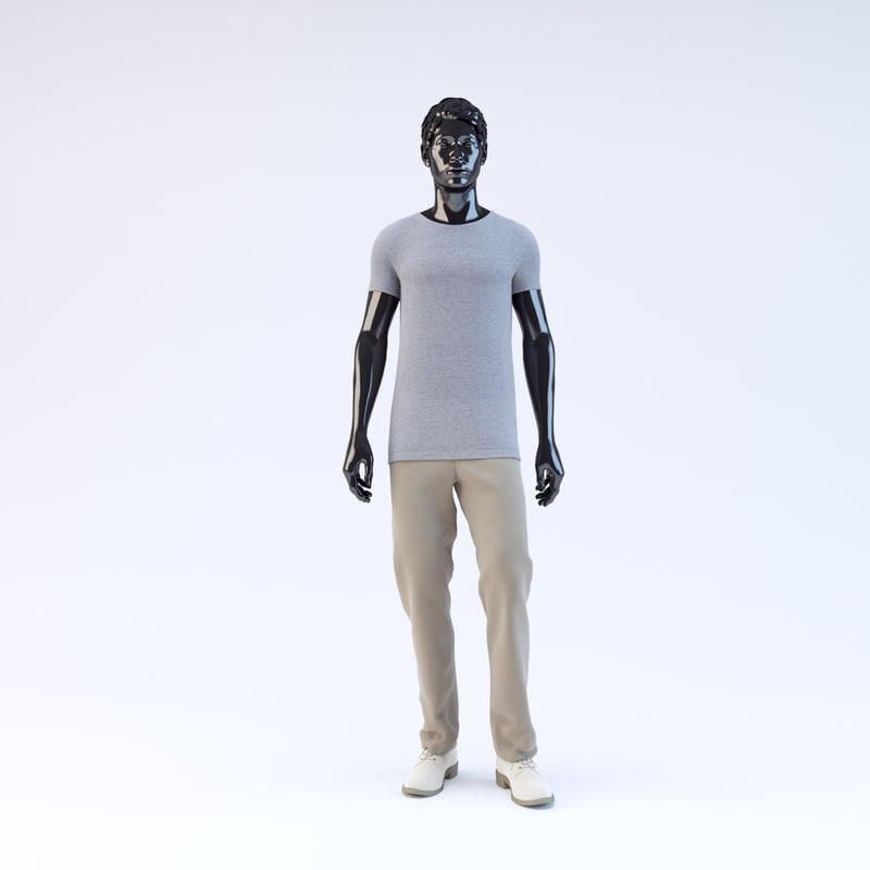 showroom mannequin male 09 3d max