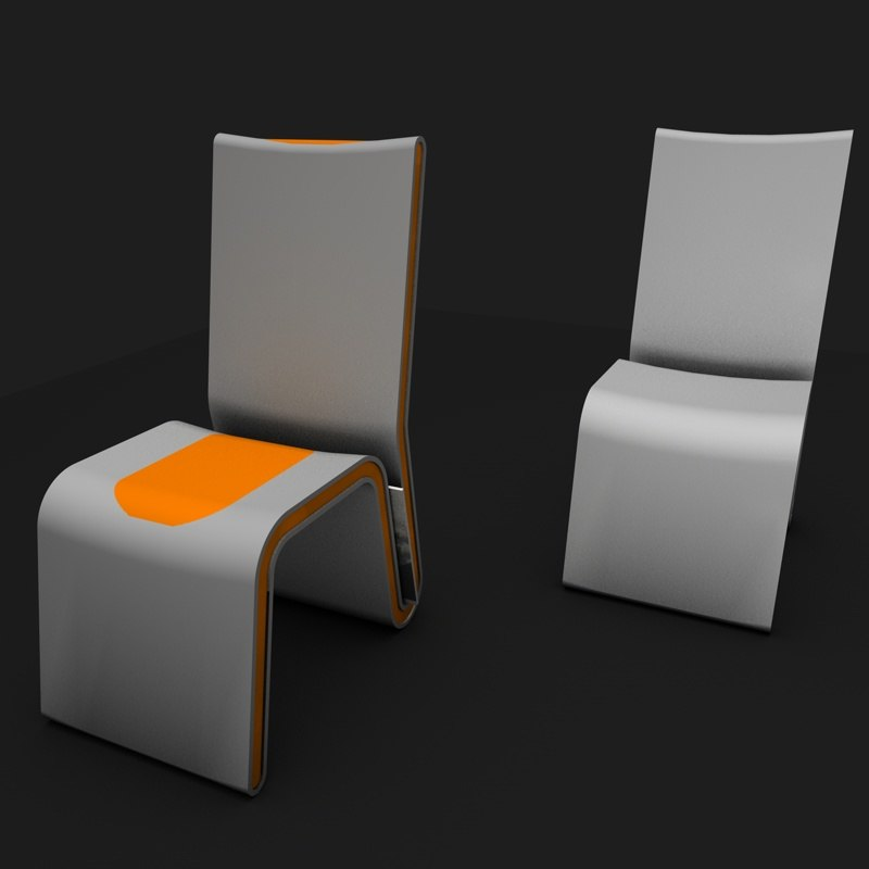 3d model shape chair