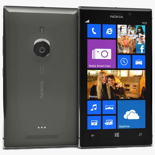 3d nokia lumia 925 black