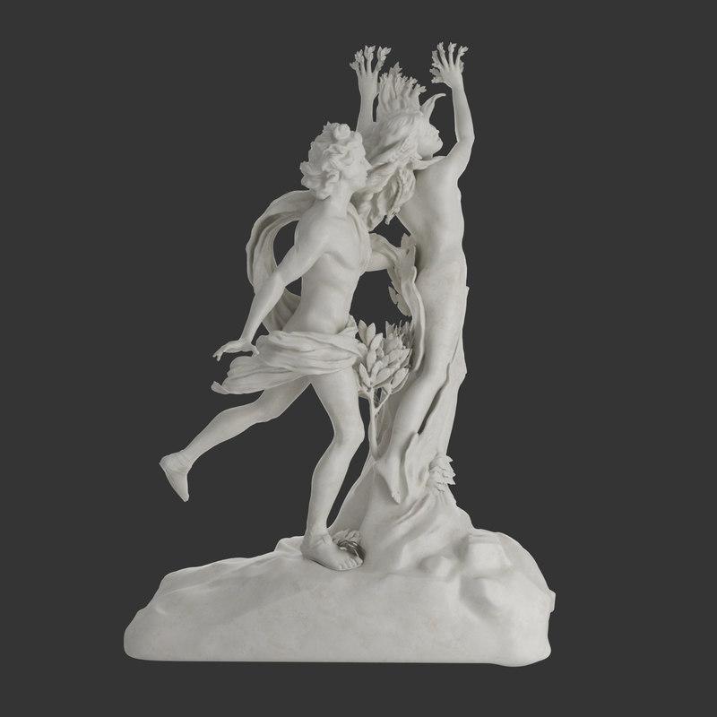 3d statue apollo daphne bernini