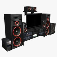 - speakers tv 3d model