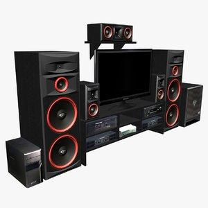 - speakers tv 3d model