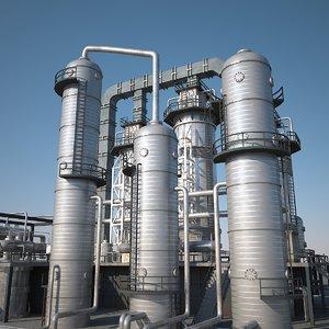 3d refineries model