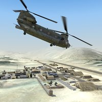 3d 3ds desert airfield