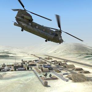 3d 3ds desert airfield
