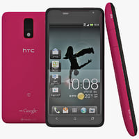 3d red htc j cell phone model