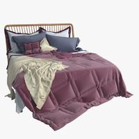 nordic bed 3d model