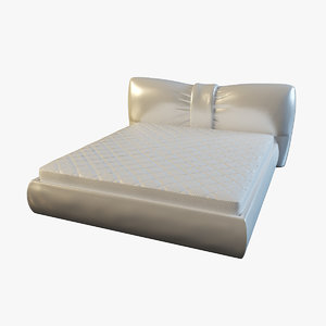 leather bed mattress 3d max