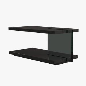 living room table glass 3d model