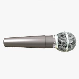 3ds max shure micro mic