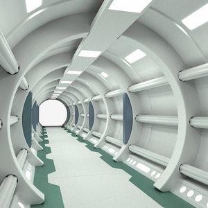 futuristic corridor 3d max