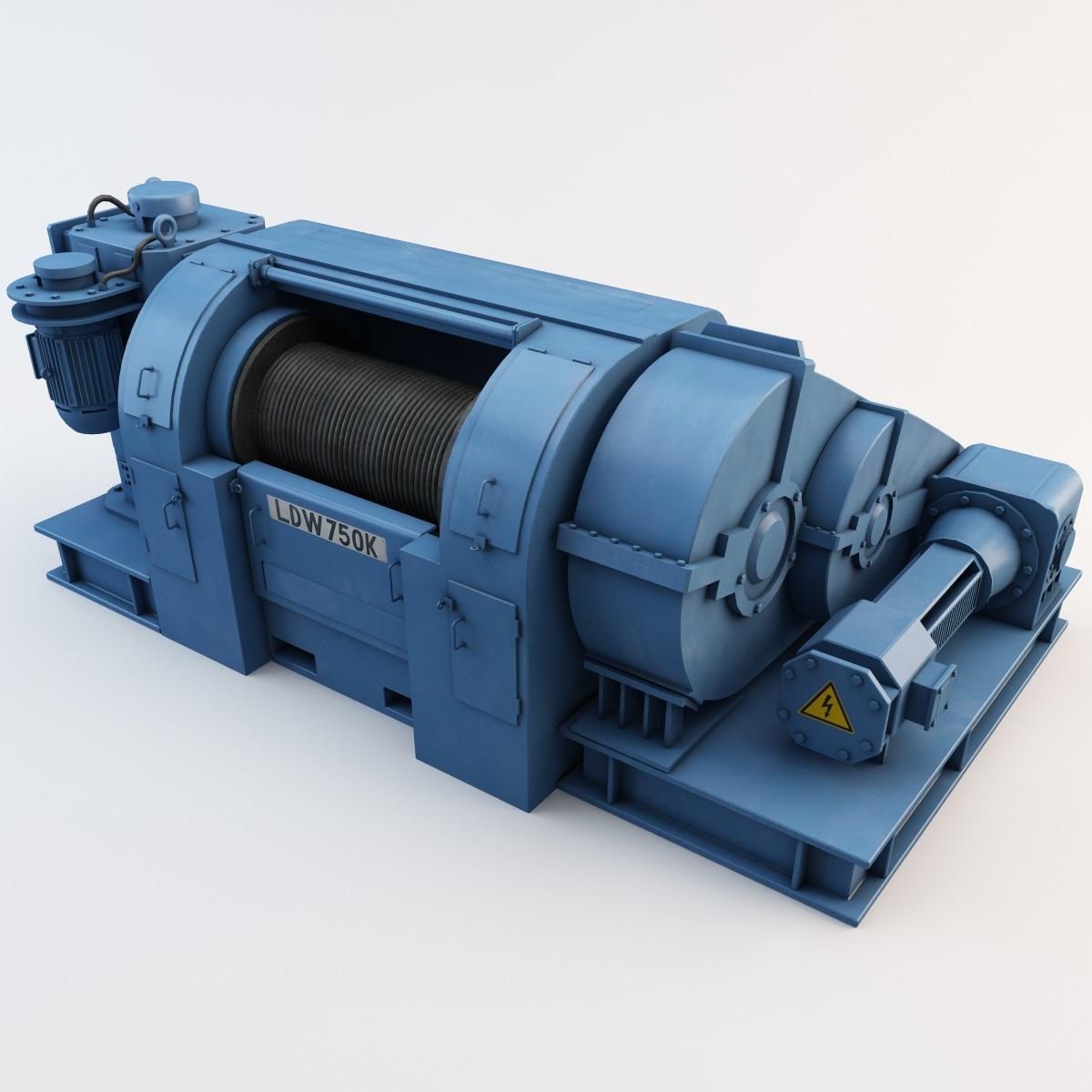 rig draw-works 3d model