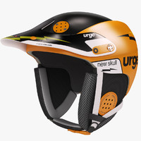 3d model snowboard helmet urge skull
