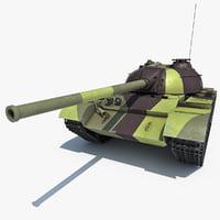 t-54 soviet union main 3d max
