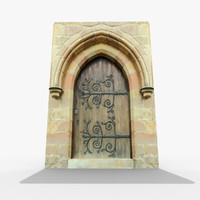 old stone door 3d max