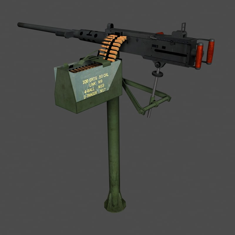 12 browning m2 stand 3d model