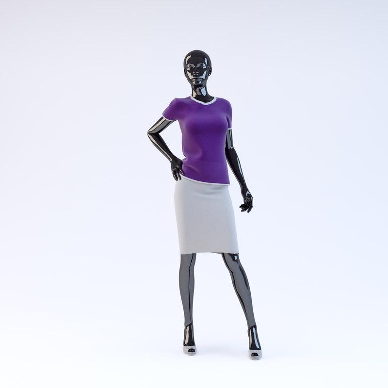 3d showroom mannequin 023