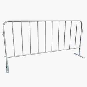 3dsmax metallic barrier fence