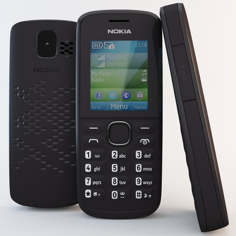 black nokia 110 cell phone 3ds