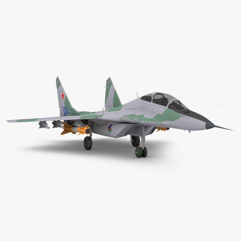 mig-29 russian fighter aircraft 3d c4d