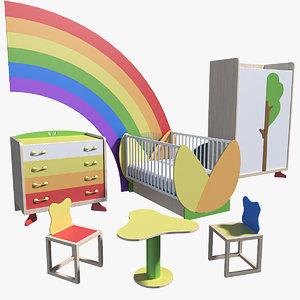 3ds max children s furniture tati