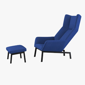 3d bensen park lounge chair