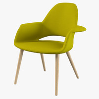 3d model eames saarinen organic chair