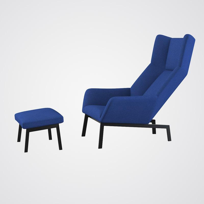 3d bensen park lounge chair