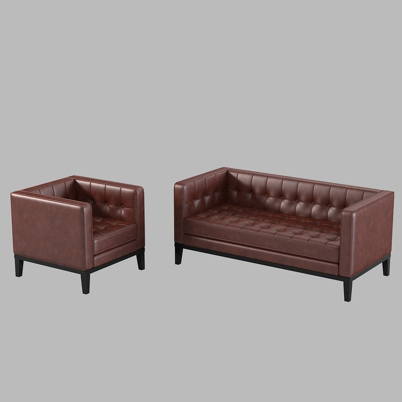 armen living brades loveseat 3d model