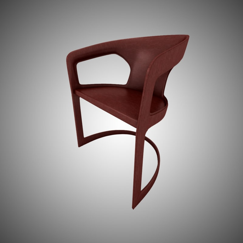 3d model minotti twombly brown leather