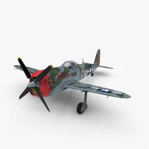 3d max thunderbolt p-47