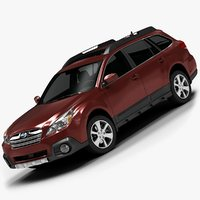 3d model 2013 subaru outback interior