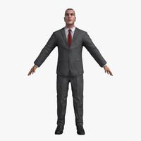 Businessman 01 B (Rigged)
