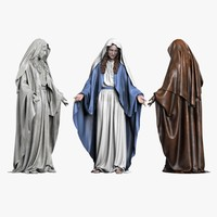 3d statue virgin mary model