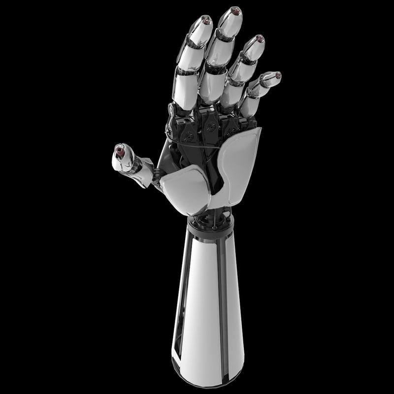 robot hand c4d