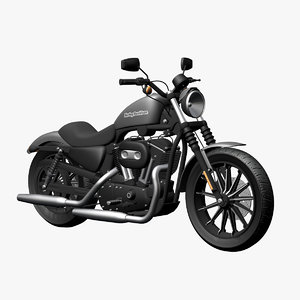 harley davidson iron 883 3d model