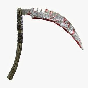 3ds max ancient combat scythe