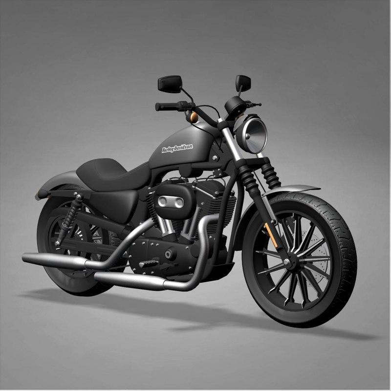 Turbo My Harley: Harley Davidson Iron 883 3d Model
