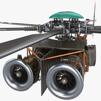 3d model helicopter engine