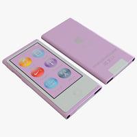 3d generation pink ipod nano model
