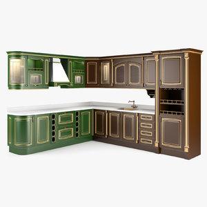 3d kitchen positano