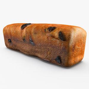 raisin bread 3d lwo