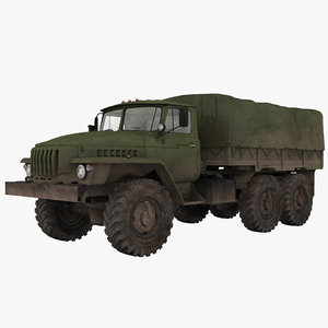 3ds max russian army 6x6 truck